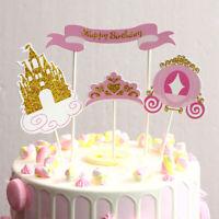Cake Topper Happy Birthday love Cake Top Flag Decoration TEUS