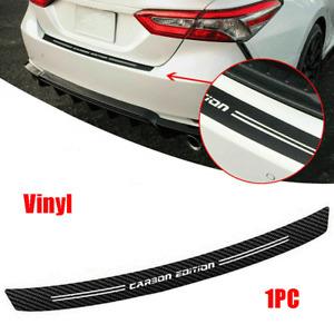 Carbon Fiber Look Car Rear Bumper Protector Strip Trunk Sill Decal Vinyl Sticker