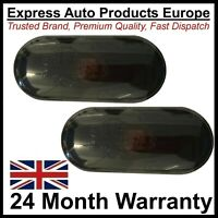 Smoked Black Side Repeater Set Oval VW Golf Mk4 T5 Transporter