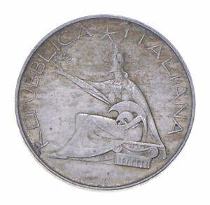 SILVER - WORLD Coin - 1961 Italy 500 Lire - World Silver Coin *185