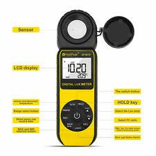 Light Lux Meter Digital Illuminometer Luminometer 400 000lux Temp Detector 881d