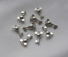 NEW 10 Pcs Disney Mickey Minnie Mouse Key Shaped Charms Pendants Tibetan Silver