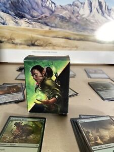 Magic the Gathering Blue/green Deck Nissa planeswalker FOIL included