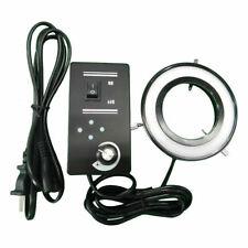 144 LED Ring Light Source Illuminator Four Zones Adjustable  f Stereo Microscope