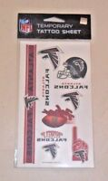 NFL ATLANTA FALCONS TEMPORARY TATTOOS 1 SHEET 7 TATTOOS FAST FREE SHIPPING