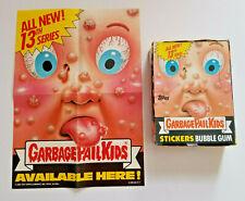 1988 GARBAGE PAIL KIDS 13th SERIES 13 GPK OS PROMO POSTER AND BOX