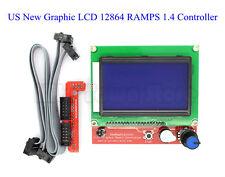 US Graphic LCD 12864 RAMPS 1.4 Controller for RepRap 3D Printer Prusa Mendel New
