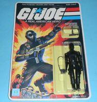 ⭐RECARDED⭐ 1982 GI Joe Snake Eyes Figure Complete Sealed ⭐CUSTOM File Card Back⭐