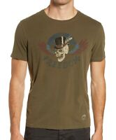 John Varvatos Star USA Men's Freedom Skull Graphic Crew T-Shirt Dark Fatigue