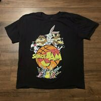 VTG 1993 Men's XL Black Short Sleeve Looney Tunes Space Jam Basketball T-Shirt