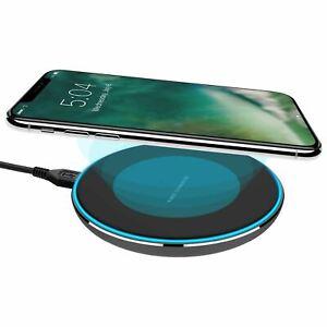 Xqisit 10w Ultra Slim Fast Wireless Charging Station Pad - Black