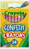 Crayola CONFETTI CRAYONS Walmart Exclusive 2020 24 Pack Color Burst NEW