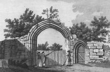 BEDS. Gate of Dunstable Priory, Bedfordshire. Grose 1783 old antique print