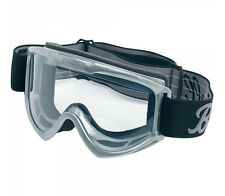 ✴ Biltwell Moto Motorcycle Goggles • Grey With Clear Lens • MG-GRY-00-BK ✴