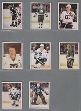 1981-82 O-Pee-Chee Hockey Sticker Hartford Whalers Complete Team Set (10) OPC