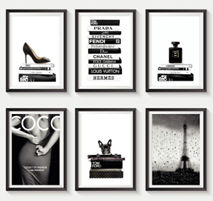Set of 6 Fashion Vogue Designer Wall Art Bedroom Print Home Posters Deco Gift S2