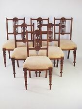 Walnut Victorian Edwardian Chairs (1901-1910)