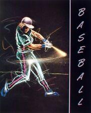 Playing Baseball Batter Swing Motivational Sports Wall Decor Art Print (16x20)