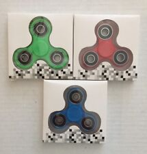 Fidget Hand Spinner For Autism, ADHD, ADD 3-BUNDLE Red, Blue, Green USA Shipper