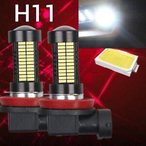 2 pcs H11 6K White 108 4014 LED Bulb For Car Truck Fog Light For Acura Honda