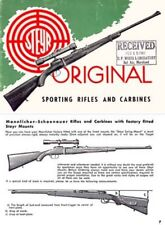 Steyr-Mannlicher Schoenauer Repeating Sporting Rifles & Carbines 1959 (in Englis