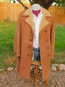 Lakeland Shearling Sheepskin Big Lapel Rancher Coat Jacket Marlboro Man Sawyer
