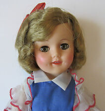 "SHIRLEY TEMPLE 15"" IDEAL DOLL WEARING ORIGINAL PARTY DRESS  w/ MATADOR SLEEVES"