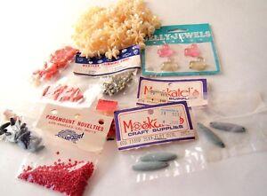 Vintage Lot of Loose Beads Wood plastic seed bead Westrim Moskatels Paramount
