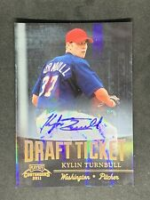 KYLIN TURNBULL 2011 PLAYOFF CONTENDERS DRAFT TICKET AUTO CARD #DT28 NATIONALS