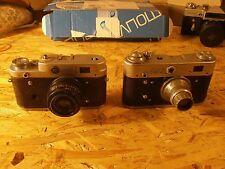 Lot x 2 FED 2 and FED 3 USSR film photo camera