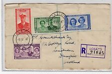 BECHUANALAND: 1947 REGISTERED ROYAL VISIT COVER TO SCOTLAND (C20190)