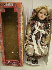 """Vintage 16"""" Porcelain China Doll - Poupee en porcelaine - by DAS"""