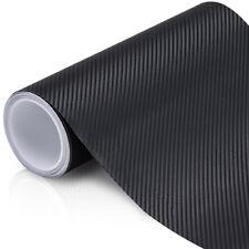 30CM x 1.51M 6D Matte Black Carbon Fibre Fiber Vinyl Car Wrap 4D 5D  MCF30x151