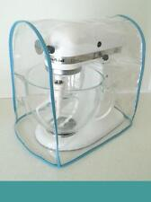 Aqua Trimmed CLEAR MIXER COVER fits KitchenAid Tilt-Head  – (4.5-5 Qt.)