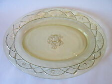 OVAL PLATTER! Vintage FEDERAL GLASS Co: depression ROSEMARY pattern EXCELLENT!