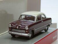"""Herpa Ford Taunus """"Weltkugel"""", weinrot - 024686-004 - 1:87"""
