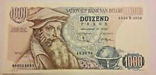 1000 Francs, 1961-1971, 1975, KM:136b, SPL Biljet, België, 1000 Frank