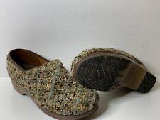 Sanita Danish Multicolor Knit Fabric Professional Clogs SZ 41/10 US