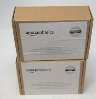 2 Pack AmazonBasics Dual-Port USB Wall Charger 2.1 Amp