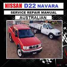 "NISSAN NAVARA D22 ""AUSTRALIAN"" WORKSHOP MANUAL ZD30 TD25/27 QD32 CDROM 1997-2008"