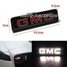 GMC Logo LED Light Car Front Grille Emblem Badge Illuminated Decal Sticker