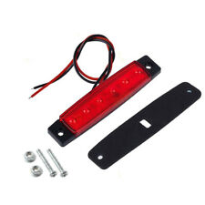 12V 6 LED Truck Boat BUS Trailer Underbody Side Marker RV Indicators Light Red