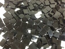 BLACK Solid Opal Hand Cut Mosaic Glass Tile ... 100+ total pieces