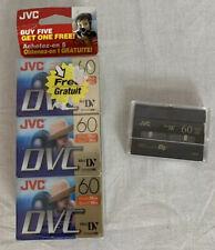 JVC Mini DV Digital Video Cassette Tapes DVM60 ME 5 New 1 Open 90 Minutes