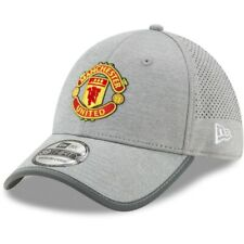 New Era Manchester United Grey Jersey Marl Flex Fit Hat (X-Small/Small)