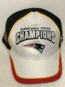 NEW ENGLAND PATRIOTS 2004 SUPER BOWL XXXVIII 38 CHAMPIONS REEBOK LOCKER ROOM HAT