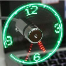 USB Portable Fan Gadget Flexible LED Clock Cool for laptop PC Notebook Real Time