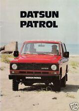 Datsun Nissan Patrol 1982 UK Market Sales Brochure Hardtop & Estate