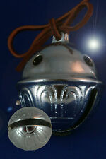 Polar Bear Express Reindeer Sleigh Bell #2 Chrome with Leather!