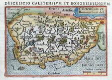 BERTIUS Original Hand Colour Antique Map 1606 FRANCE CALAIS BOULOGNE ETAPLES